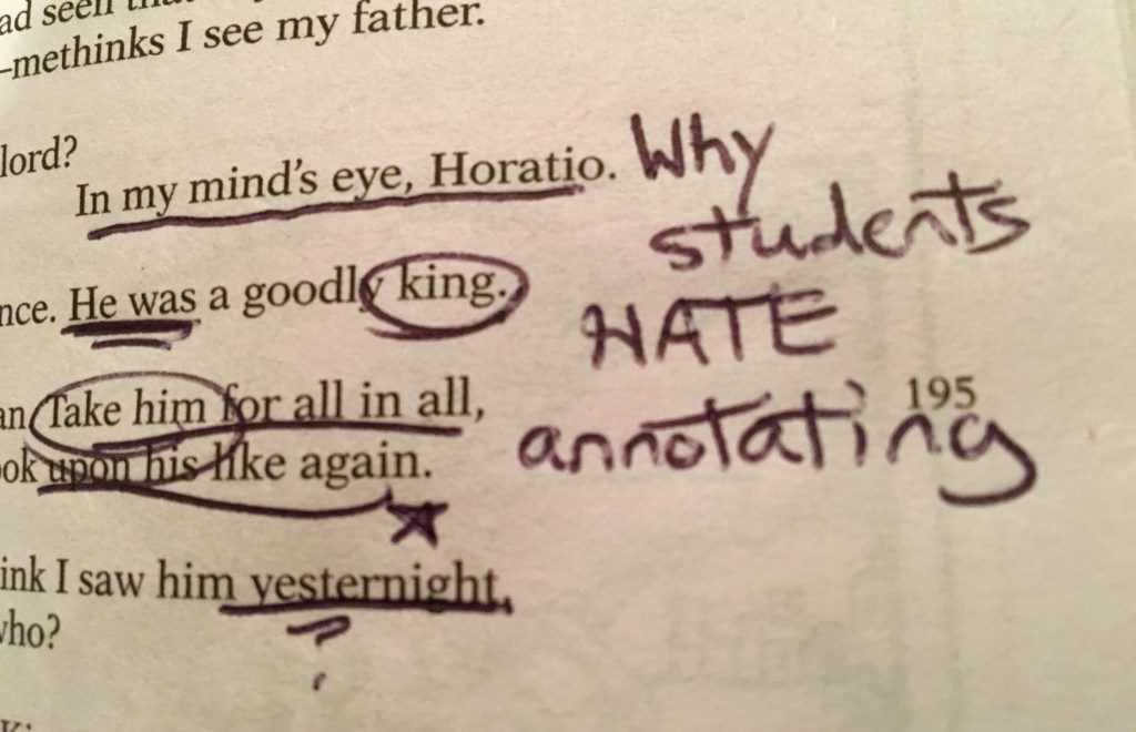 why students hate annotation