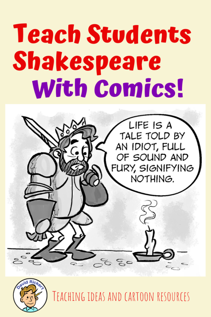 Using comics to teach Shakespeare aids in comprehension.